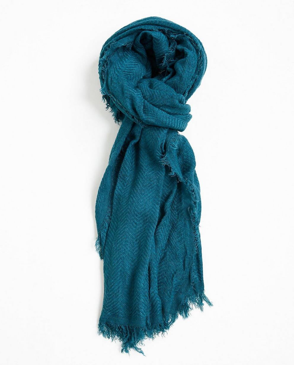Foulard, motif en zigzag - bleu canard - JBC